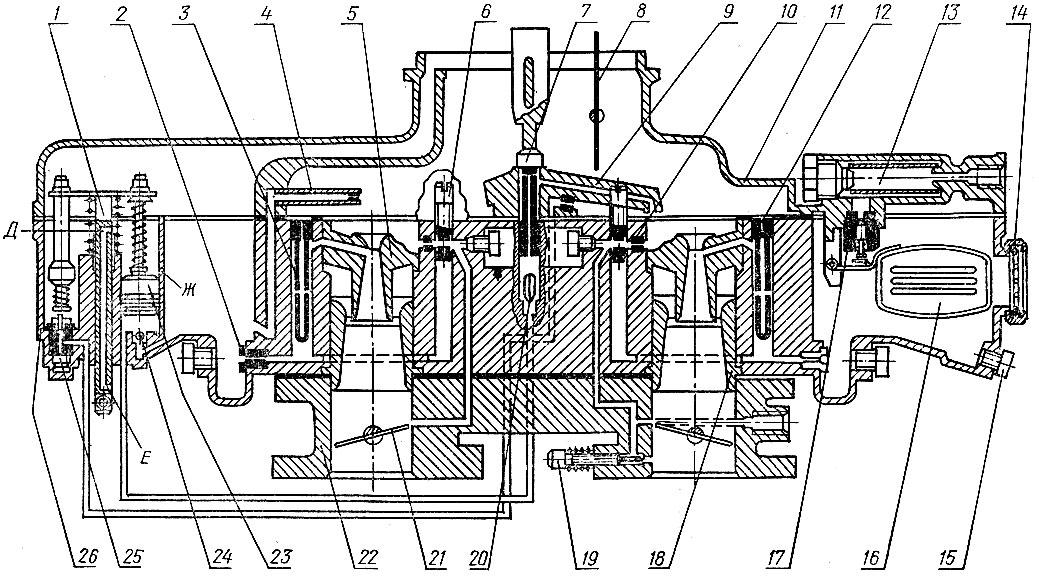 Схема карбюратора К-126Н: 1