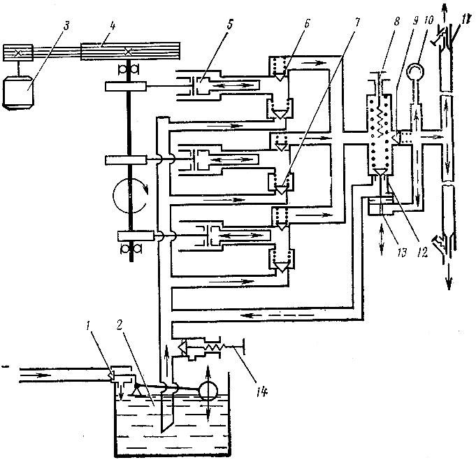 Схема установки модели M-l07