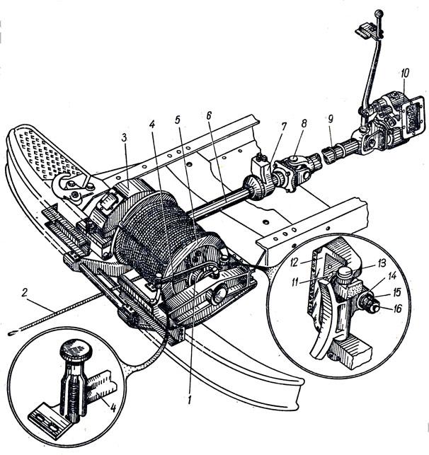 лебедки автомобиля ЗИЛ-131