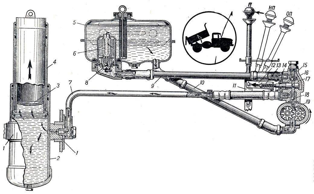 Схема подъемного механизма