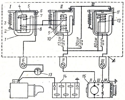 Схема реле-регулятора РР24-Г: