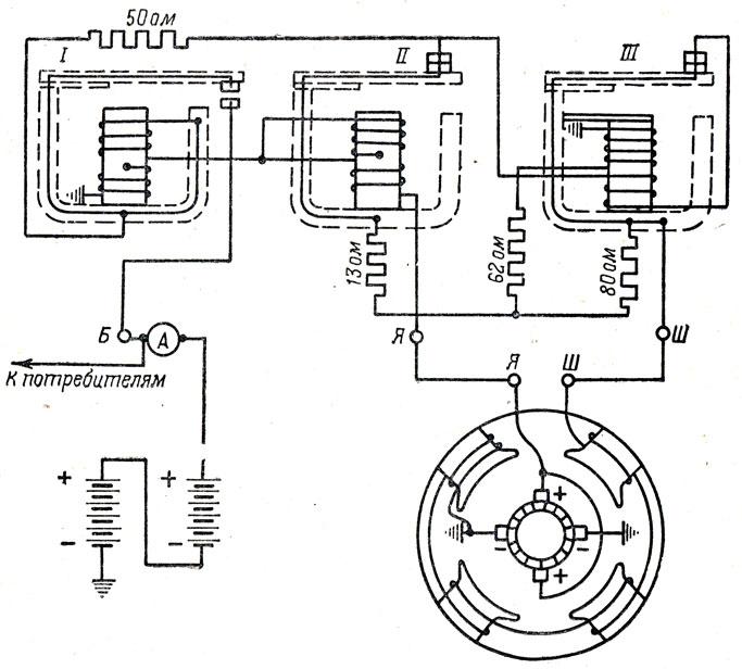 Схема генератора Г107 и