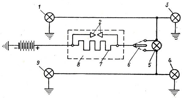 Схема включения указателей