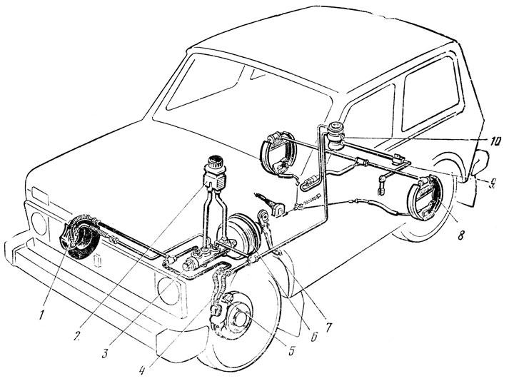 Передний тормозной механизм